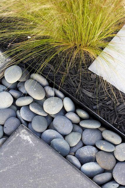 modern landscaping detail
