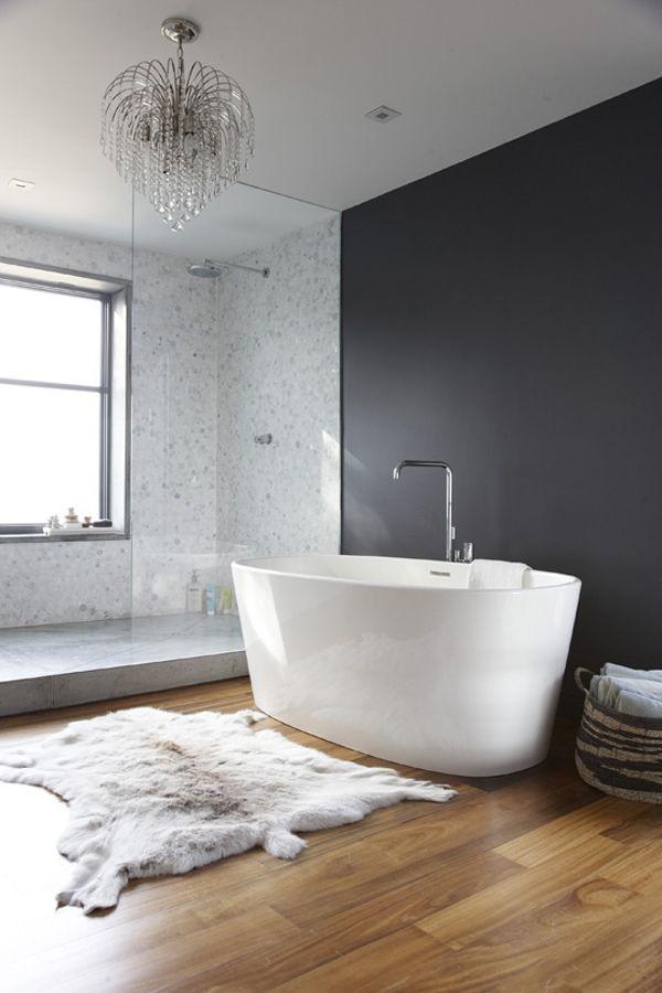white and gray modern bath
