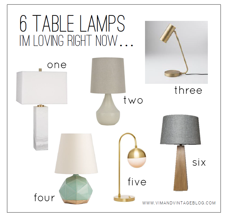 6 Table Lamps Im Loving Right Now