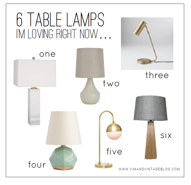 6 table lamps I'm loving right now