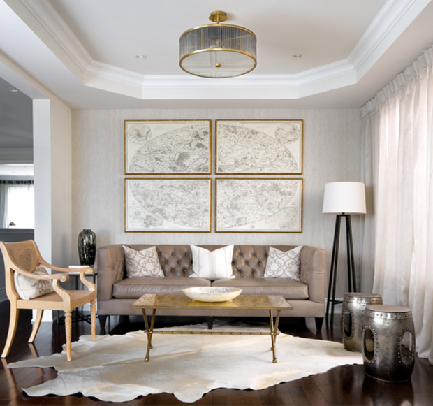 mixed metals living room