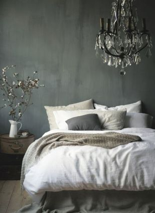 sophisticated and simple gray bedroom