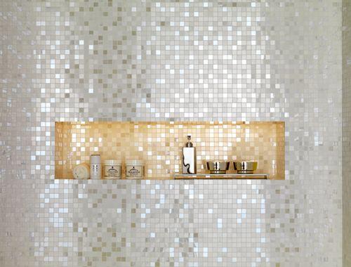 sparkly accent tile niche