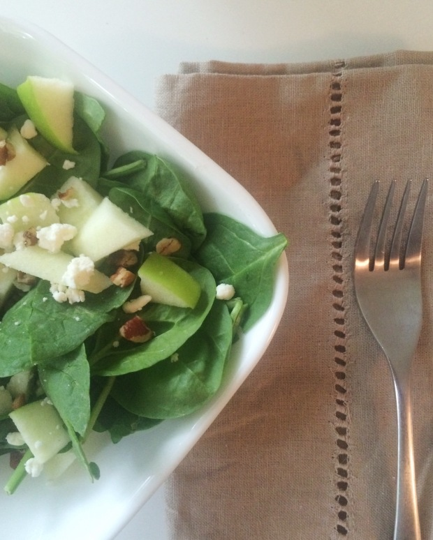 apple pecan salad with goat cheese recipe