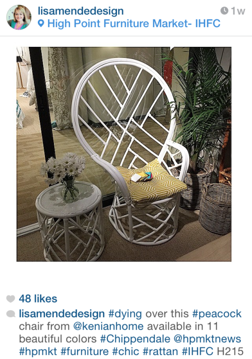 New Chair @  Highpoint - via lisamendedesign on Instagram