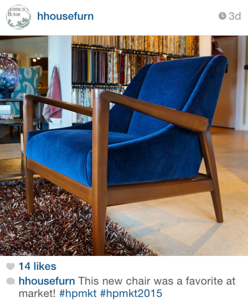 New Chair @ Spring Highpoint - via hhousefurn on Instagram