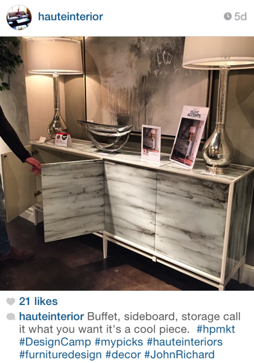 New Sideboard @  Highpoint - via hauteinterior on Instagram