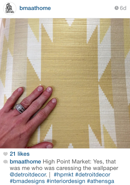 Wallpaper @  Highpoint - via bmaathome on Instagram
