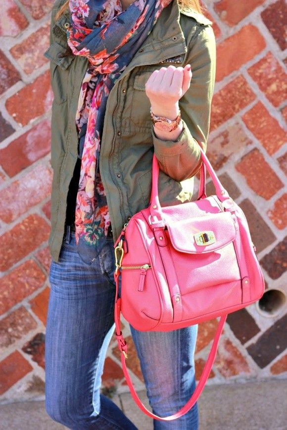 Pink and green style fashion