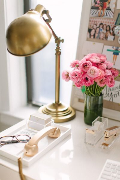 pretty office via Style Me Pretty