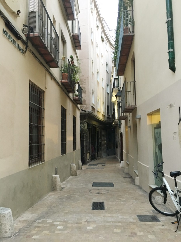 Alley shot in Malaga, Spain