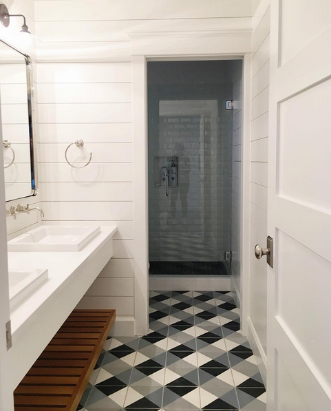 Checkered Bathroom Floor - Studio McGee